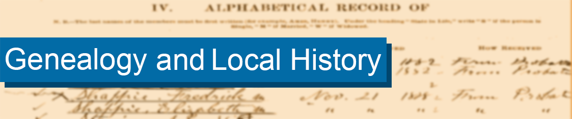 Genealogy and Local History Banner