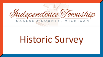 Go to Independence Township Historic Survey